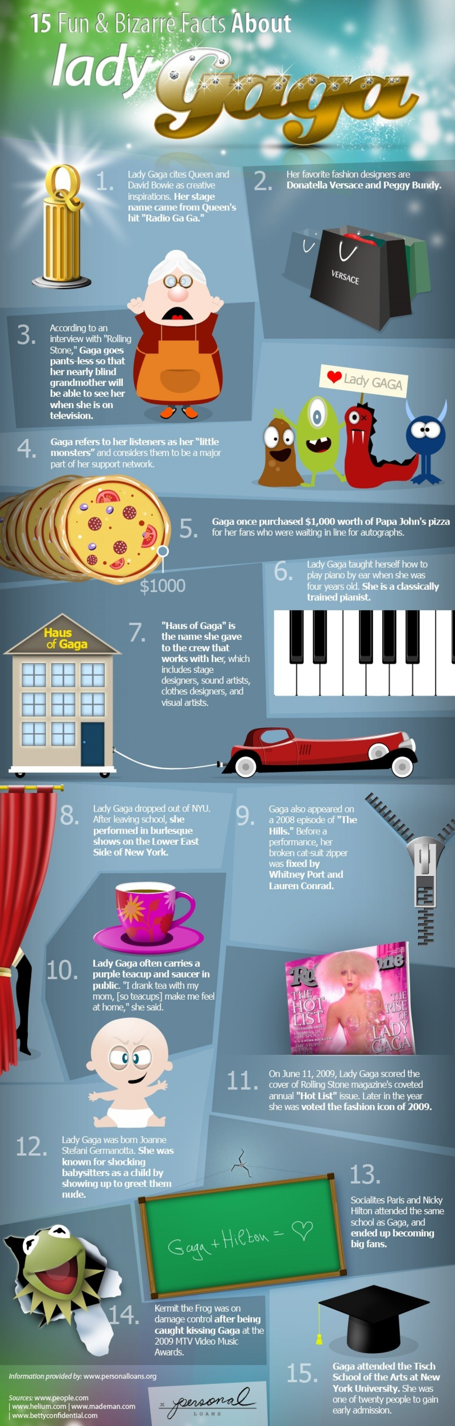 15 Fun and Bizarre Facts Abou Lady Gaga  Infographic