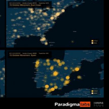 15 October protests: USA & SPA Twitter coverage Infographic