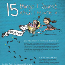 15 Things I Learnt When I Became a Mother Infographic