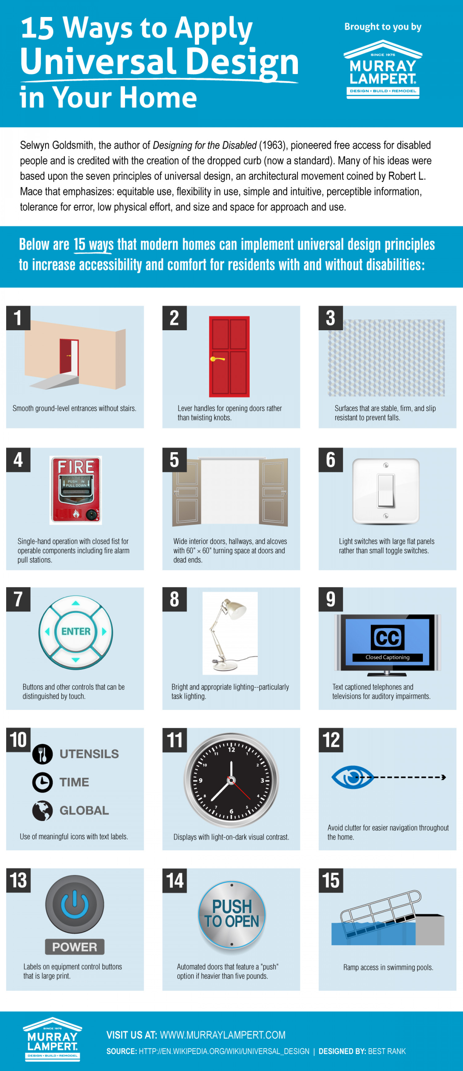 15 Ways to Apply Universal Design in Your Home Infographic