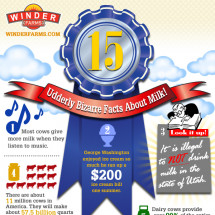 15 Udderly Bizarre Facts About Milk Infographic