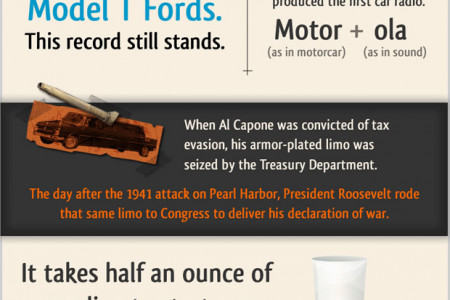 16 Interesting Facts About The Automobile Infographic