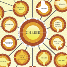 16 Flavors of Cheese: Flavor Traits & Related Cheeses Infographic