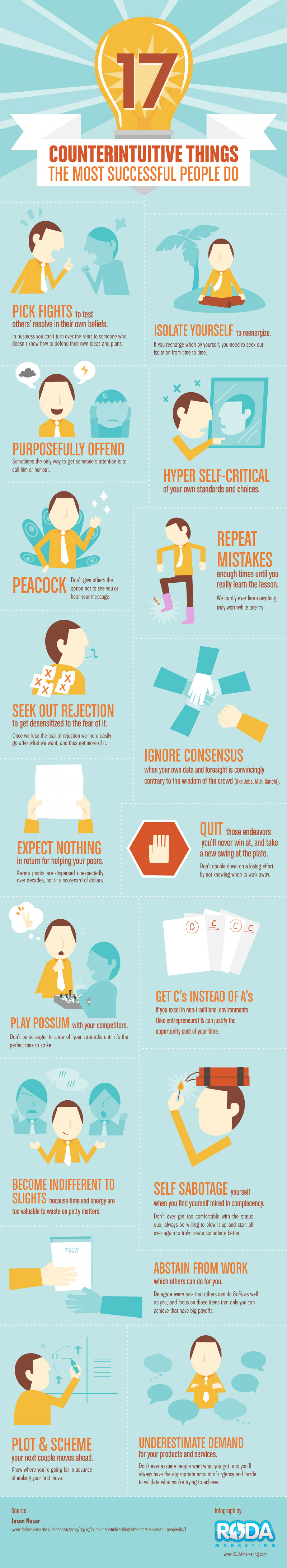 17 Counterintuitive Things Successful People Do Infographic