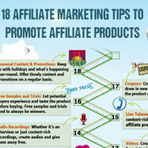 18 Affiliate Marketing Tips To Promote Affiliate Products Infographic
