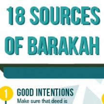 18 Sources of Barakah Infographic