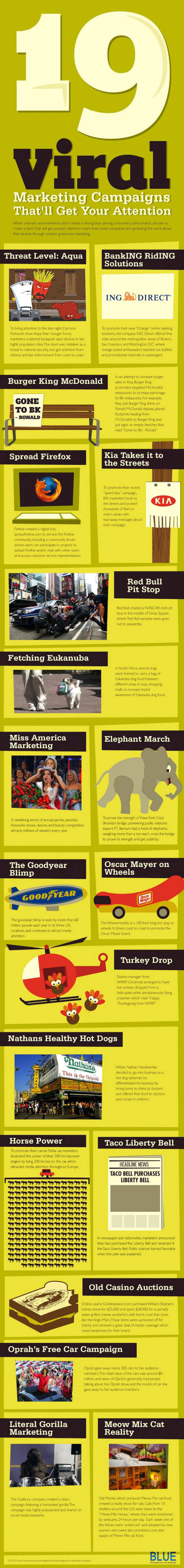 19 Viral Marketing Campaigns That Get Your Attention Infographic