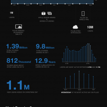 1M to 11M Users in 2011 Infographic