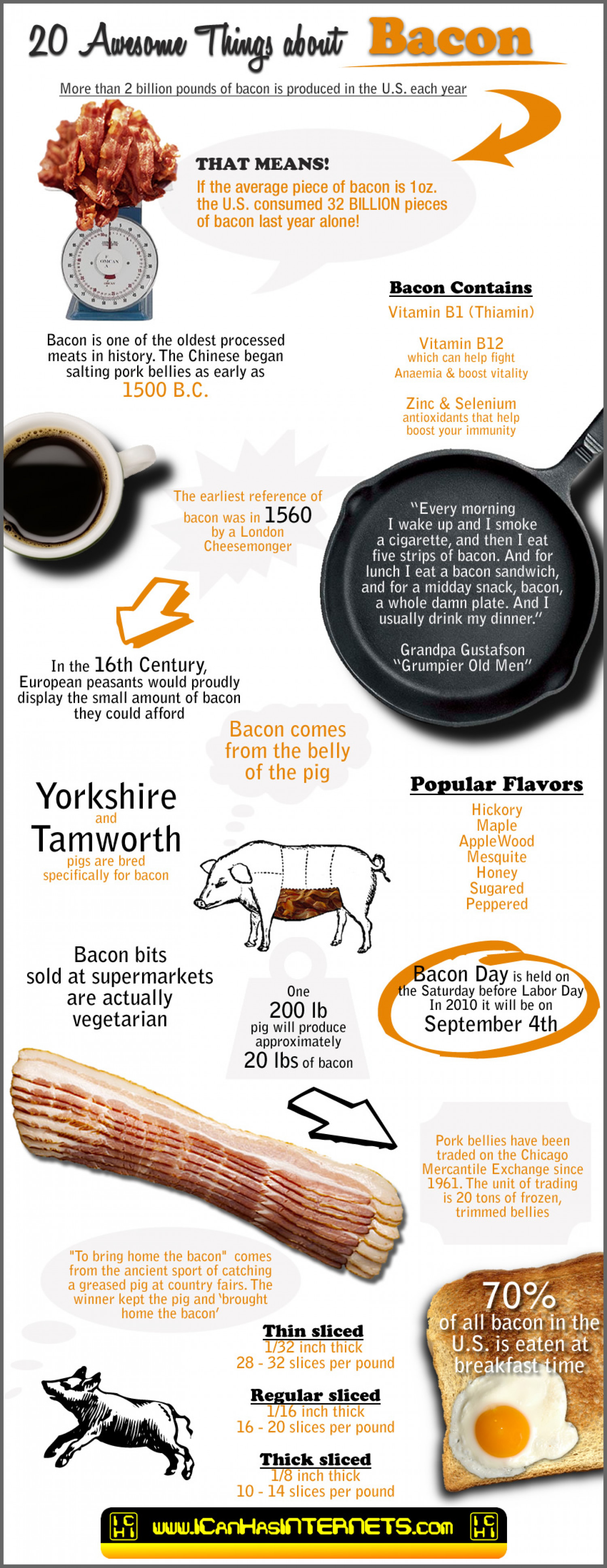 20 Awesome Things About Bacon Infographic