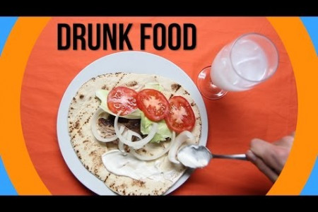 The Most Popular Drunk Foods Around The World Infographic