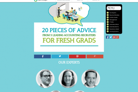 20 Pieces of Advice from 5 Leading Accounting Recruiters for Fresh Grads Infographic