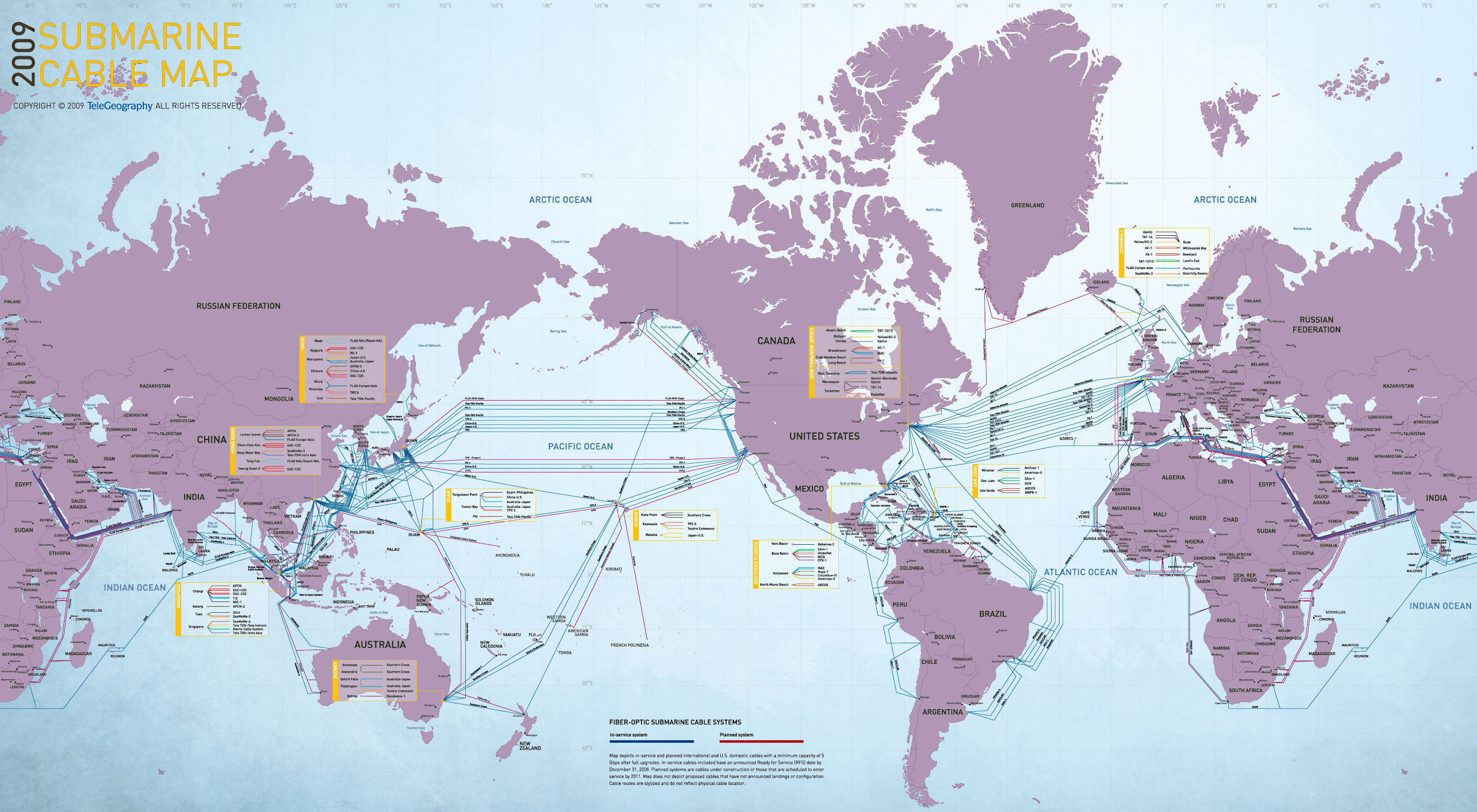 2009 Submarine Cable Map | Visual.ly
