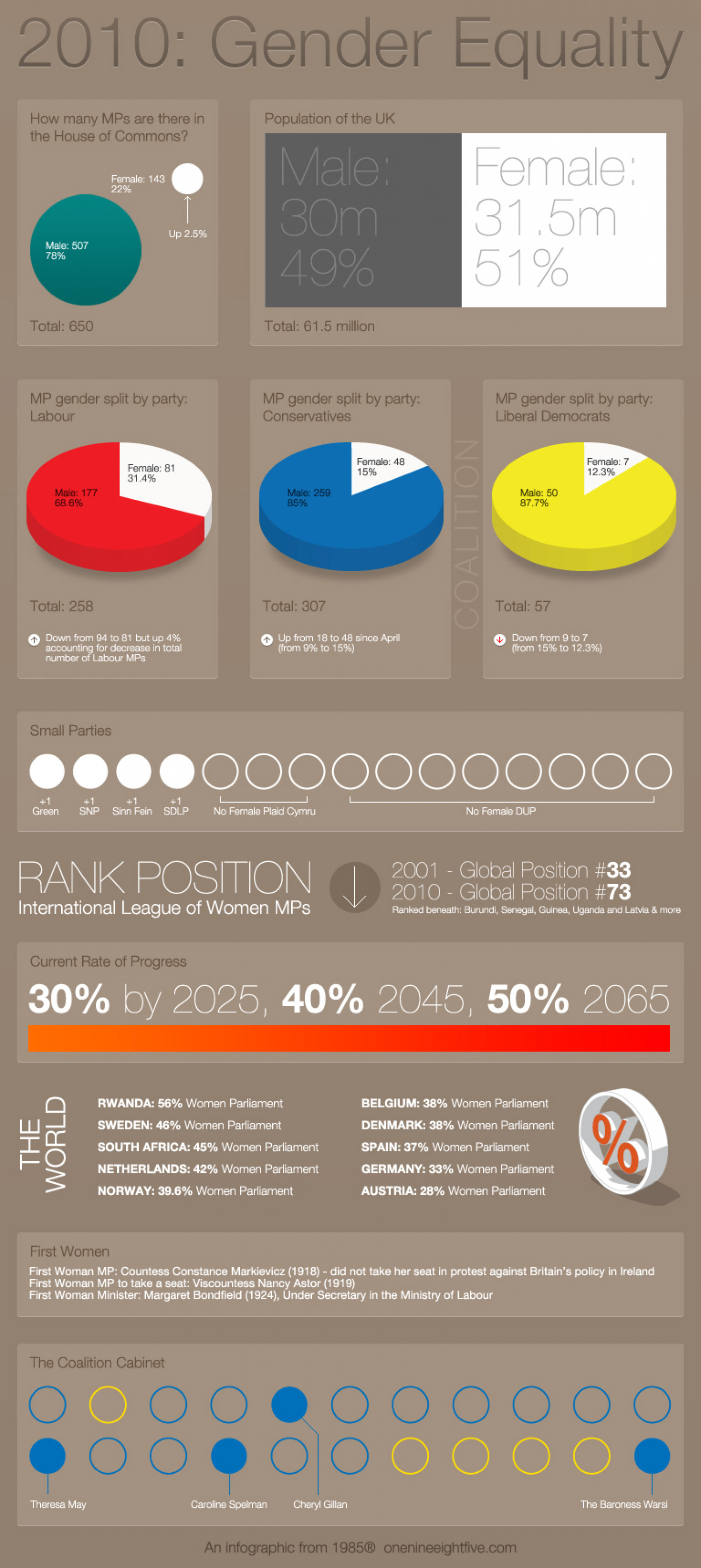 2010 Gender Equality Infographic