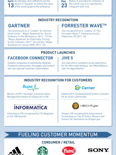 2011 Jive Drives the Year of Social Infographic