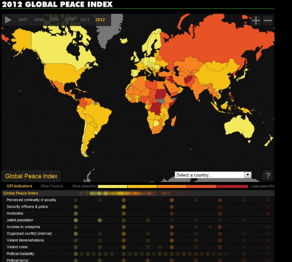 2012 Global Peace Index Infographic