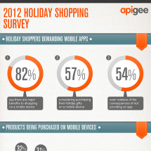 2012 holiday shopping guide Infographic