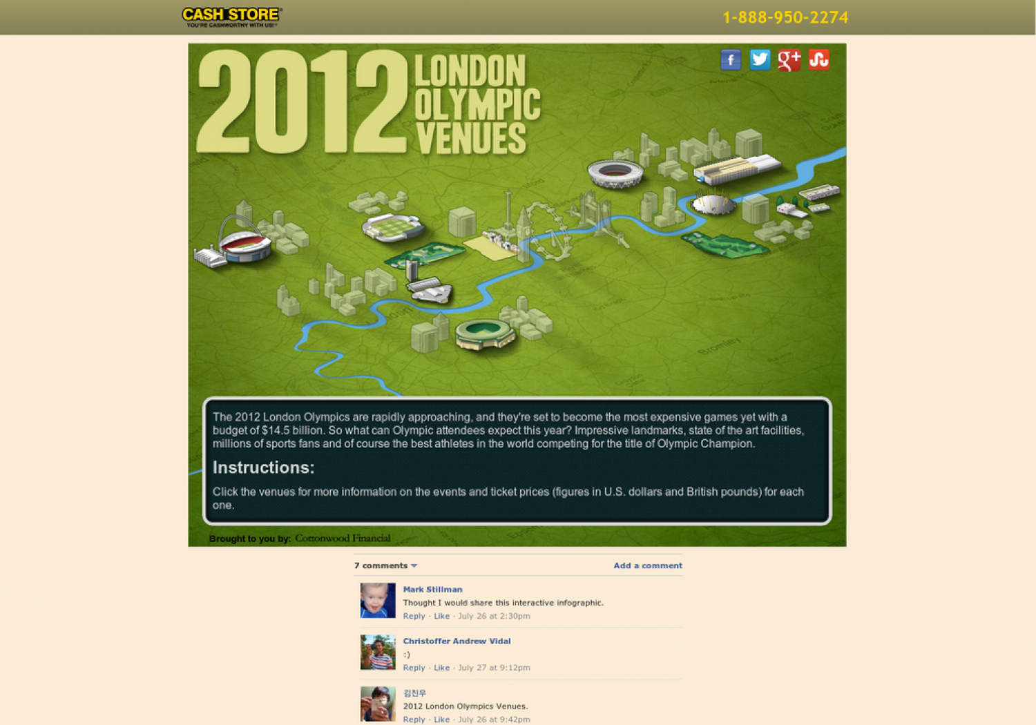 2012 London Olympic Venue Ticket Prices and Facts Infographic