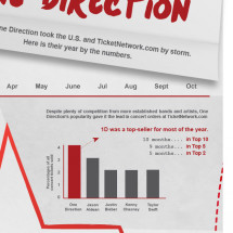2012: The Year of One Direction Infographic