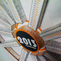 2013 calendar, infographic paper crafted  Infographic