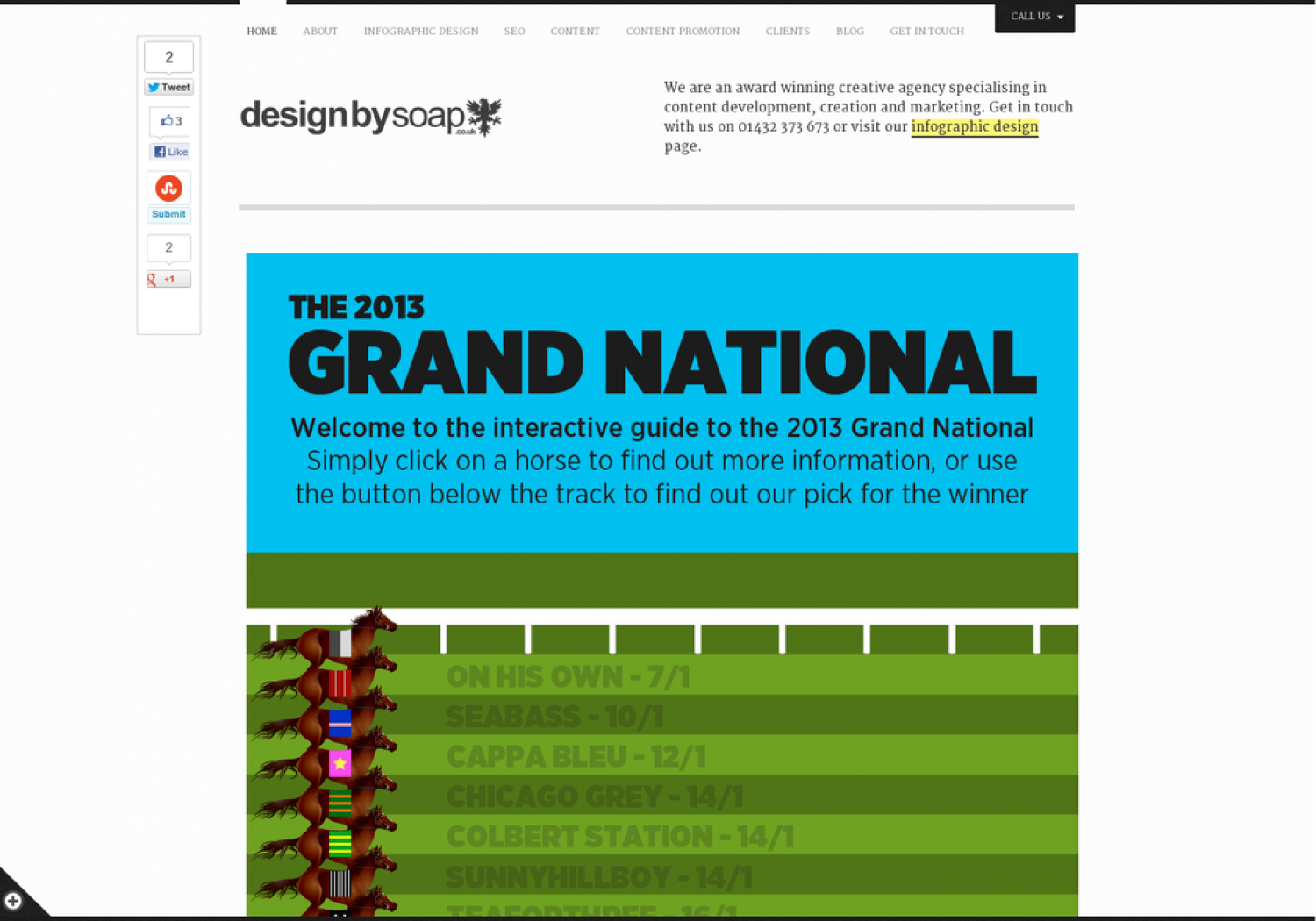 2013 Grand National Interactive Infographic Infographic