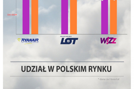 2013 Polish Airline Market – Who rules the sky? Infographic