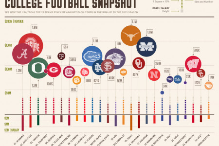 2013 Pre-Season Top 25 College Football Snapshot Infographic