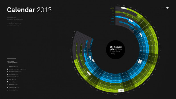 2013 Radial Calendar