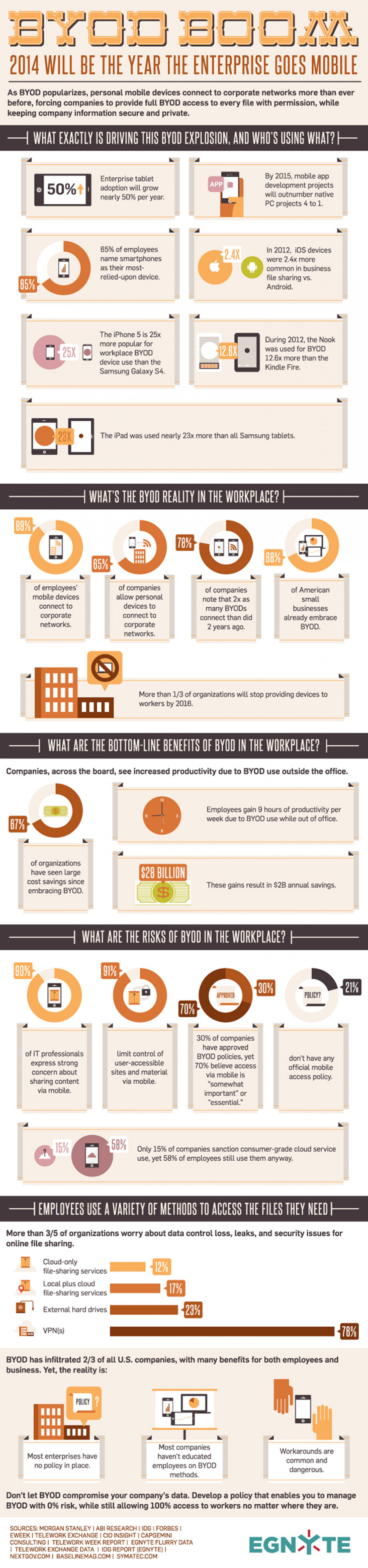 2014 will be the year enterprise goes mobile Infographic