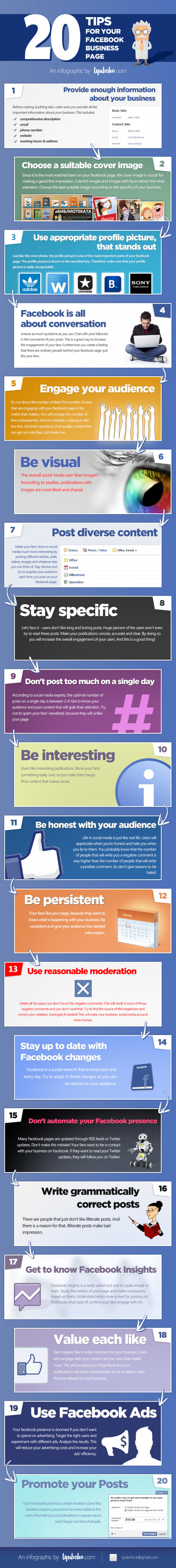 20 Tips for your Facebook Business Page
