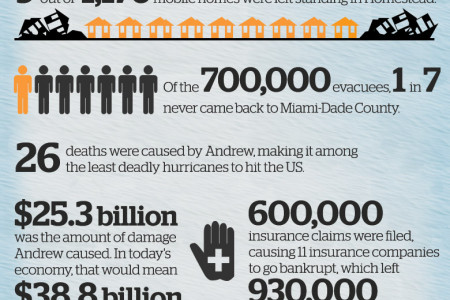 20th Anniversary of Hurricane Andrew - The effects are still felt Infographic