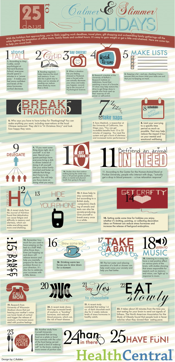 25 days to Calmer & Slimmer Holidays Infographic