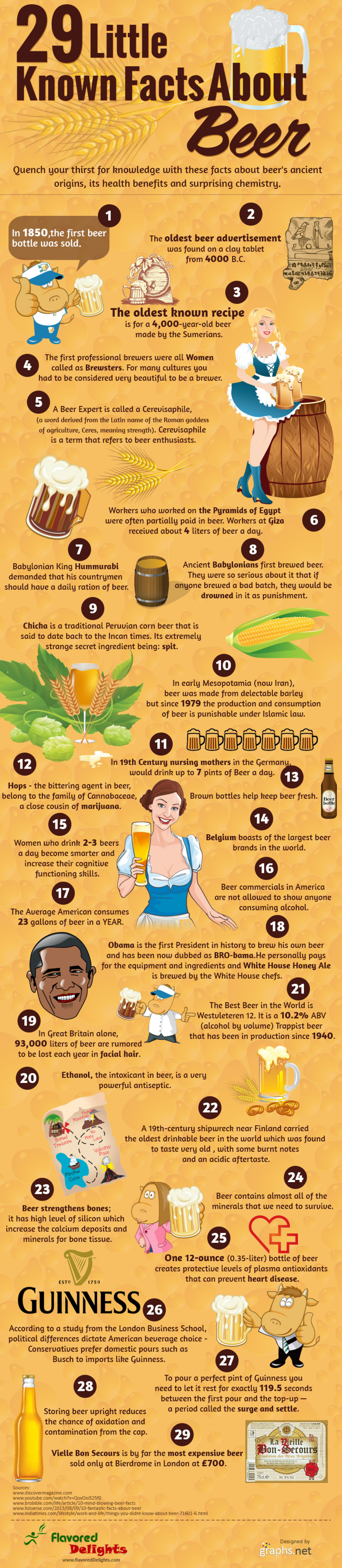 29 interesting facts of beer Infographic