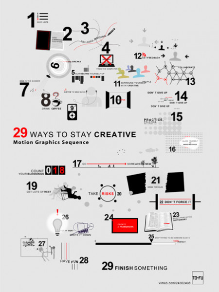 29 Ways to Stay Creative Infographic