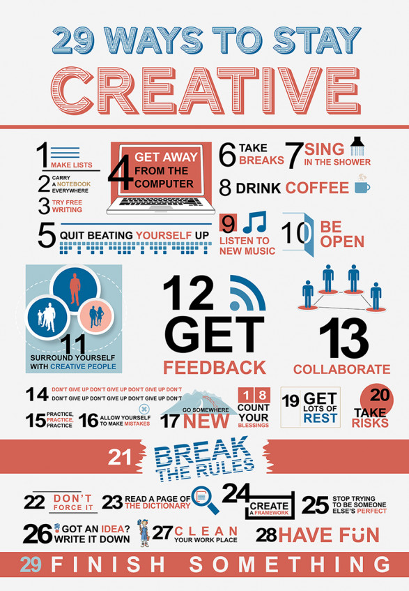 29 ways to stay creative 518297cbd8c32 w587 29 Ways to Instantly Boost Your Creativity