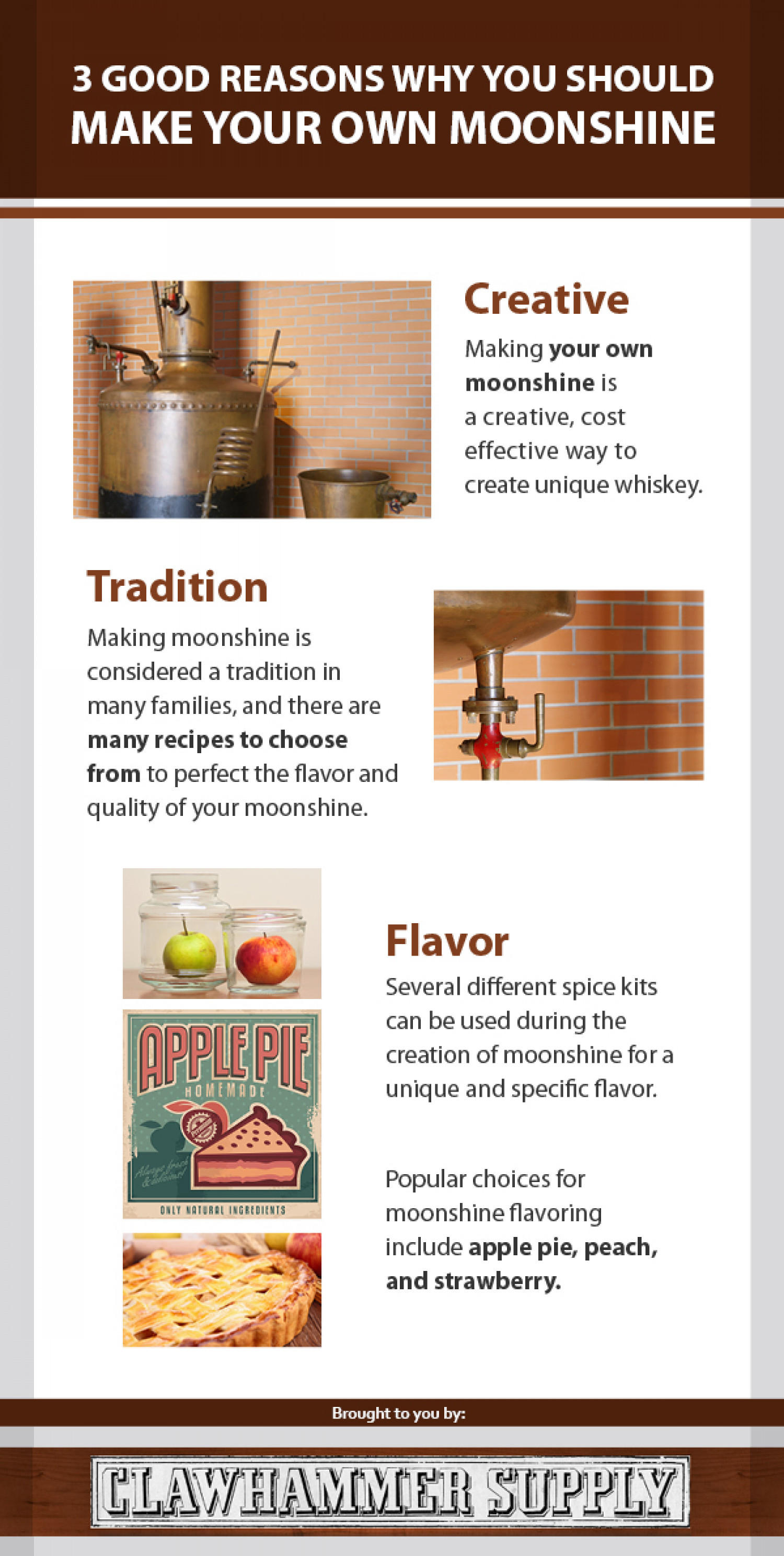 3 Good Reasons Why You Should Make Your Own Moonshine Infographic