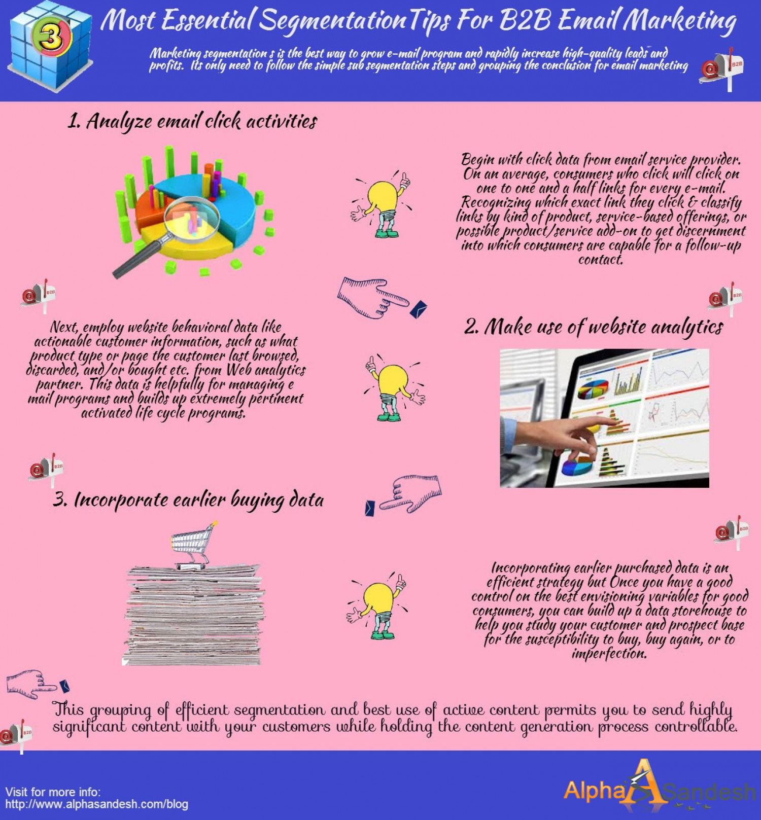 3 Most Essential Segmentation Tips For B2B Email Marketing Infographic