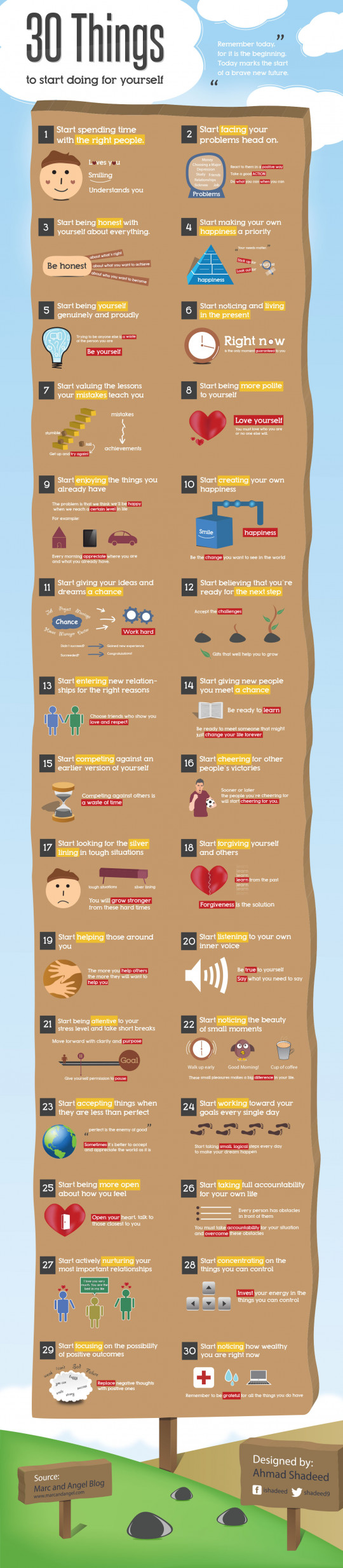 30 Things to start doing yourself