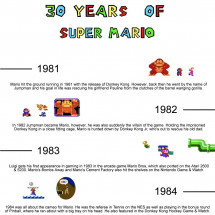 30 years of Super Mario Infographic