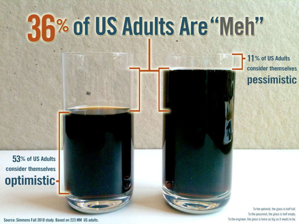"36% of US Adults are ""Meh"" Infographic"