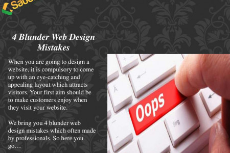 4 blunder web design mistakes Infographic