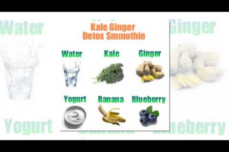 4 Detox Smoothie Recipes Infographic
