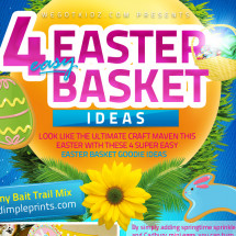 4 Easy Easter Basket Stuffer Ideas Infographic