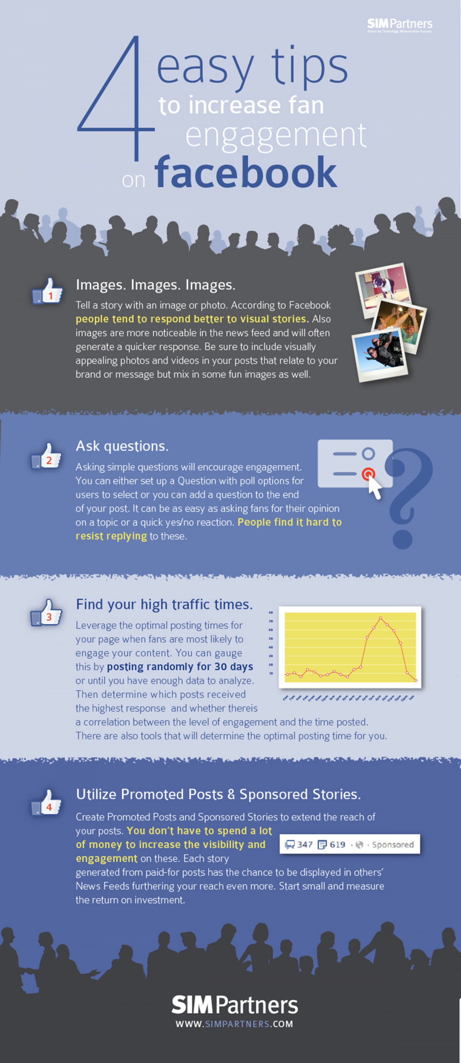 4 Easy Tips to Increase Fan Engagement on Facebook Infographic