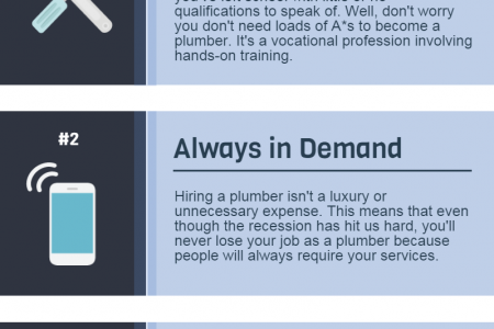4 Reasons to Become a Plumber Infographic