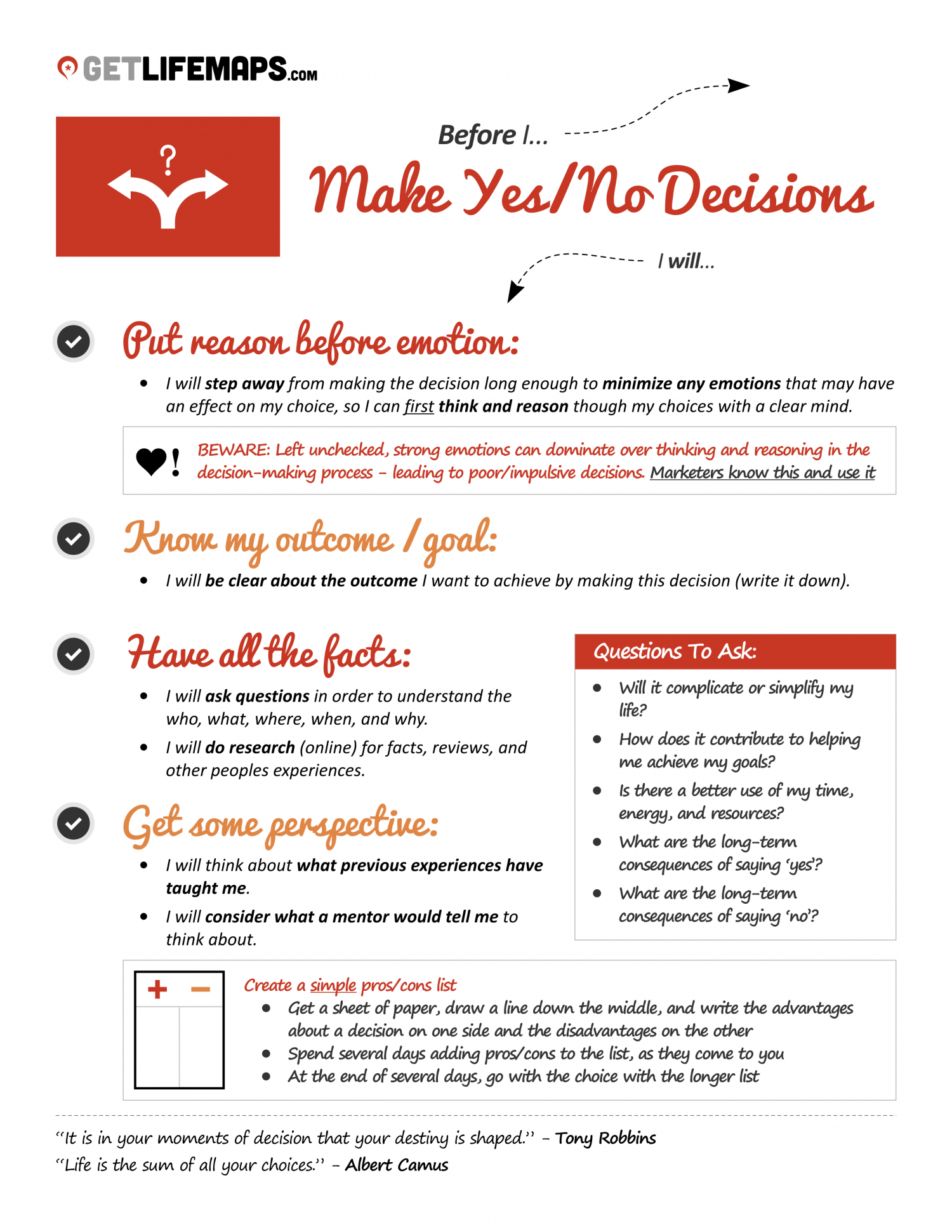4 Steps To Making Better Decisions Infographic