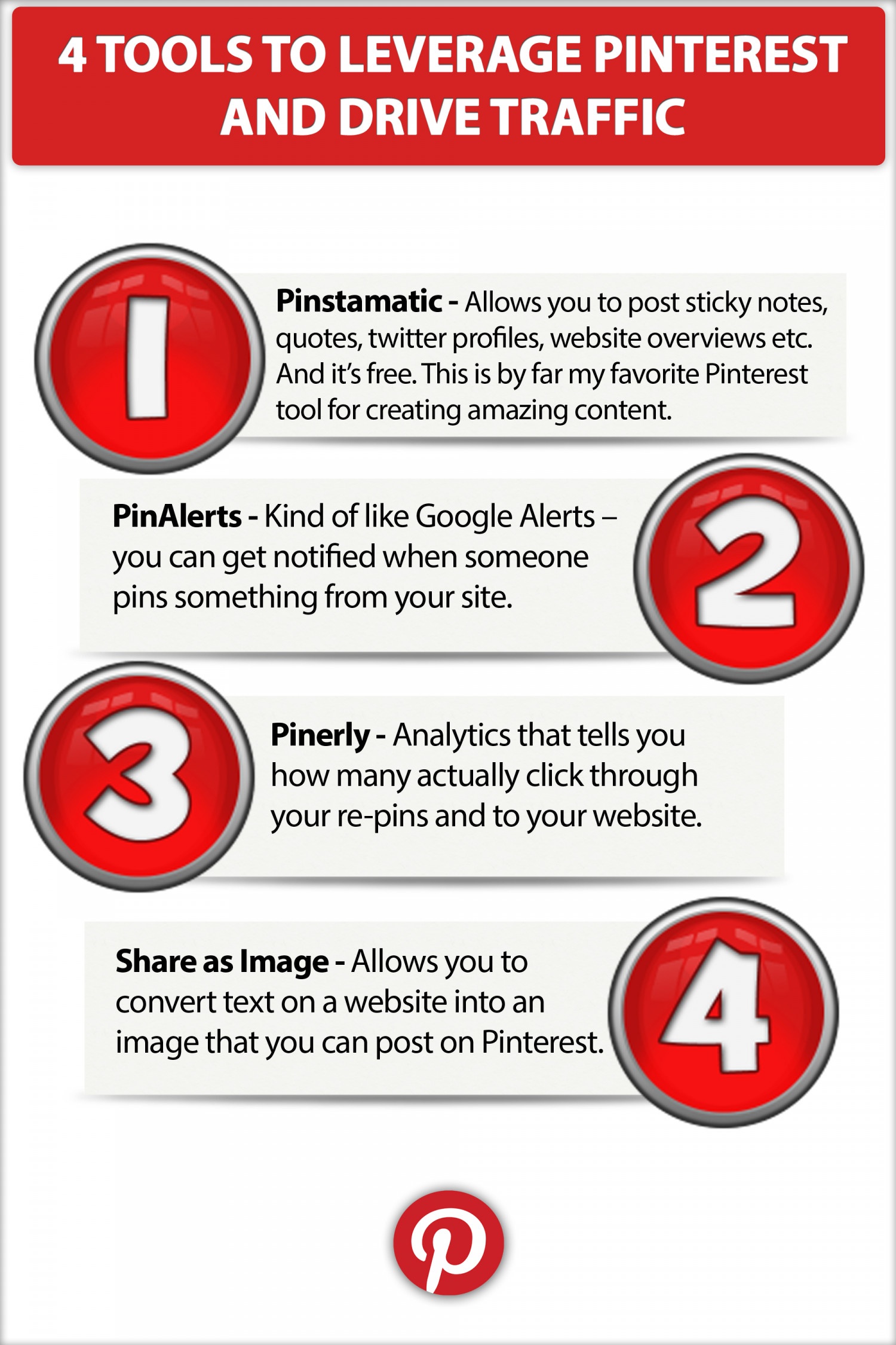 4 Tools to Leverage Pinterest and Drive Traffic  Infographic