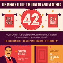 42: Life, The Universe, & Everything - A Towel Day Infographic Infographic