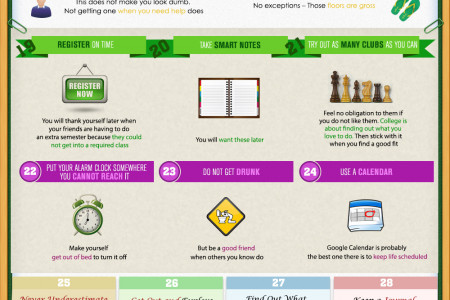 44 Tips for Surviving Your First Year of College - Learned The Hard Way  Infographic