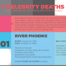 5 Celebrity Deaths Infographic