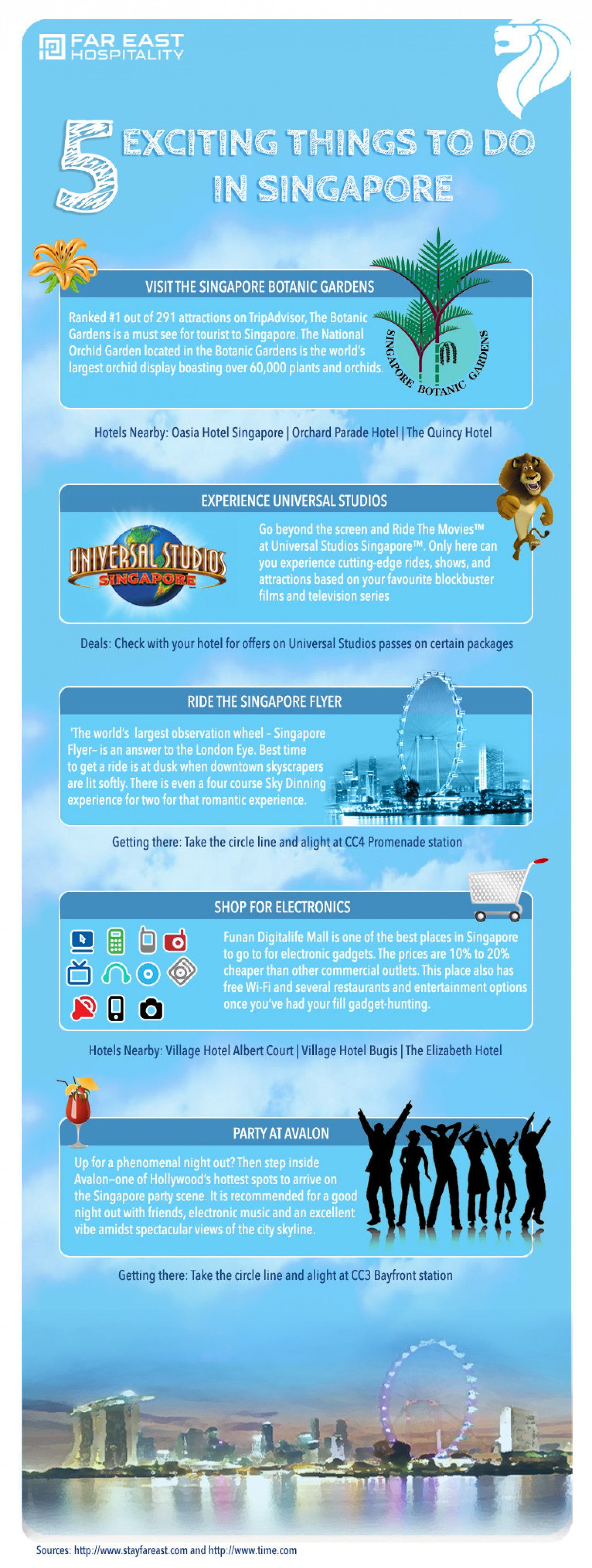 5 Exciting Things To Do In Singapore Infographic